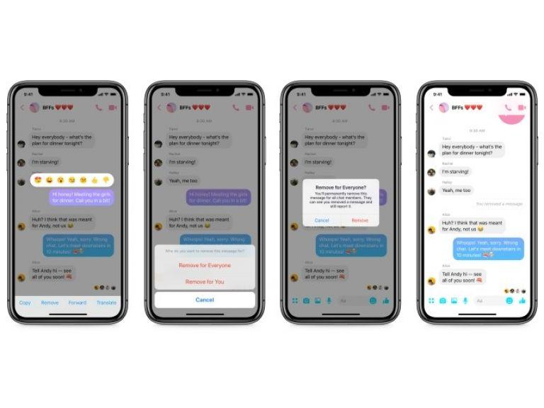 Facebook Messenger ya deja borrar mensajes enviados antes de que los lean