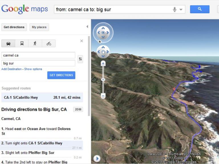 Google Maps lanza una nueva manera de ver recorridos en el sitio