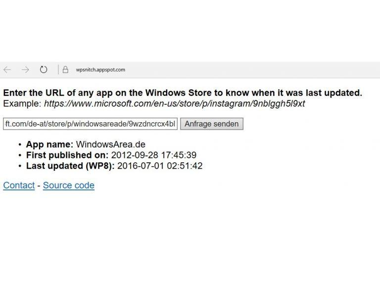 Esta web te dice cuándo se actualizó una app para Windows 10