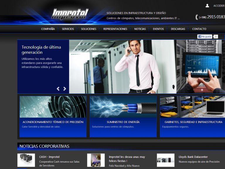 Soluciones en infraestructura y diseño. Centros de cómputos, telecomunicaciones - Energía, control de temperatura, seguridad. - Improtel