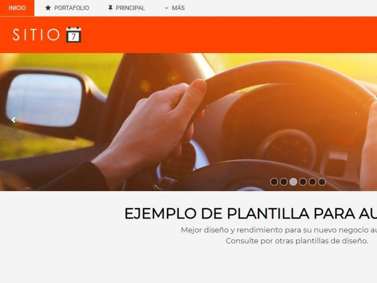 Demo 7 sitio web automotora. - AUTOS 7 . Diseño sitio web automotora rentadora