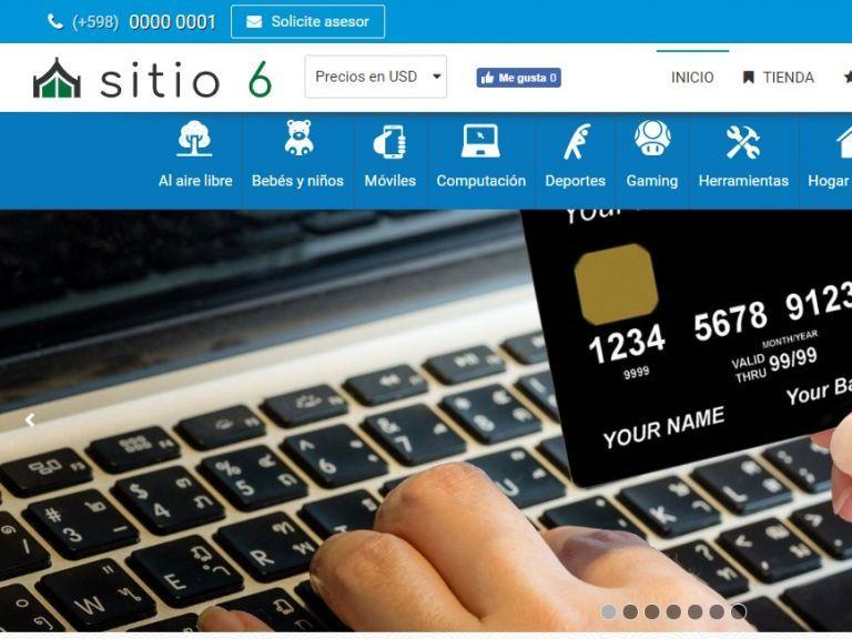 Demo de software de comercio electrónico con diseño plus. - TIENDA 6 . tienda virtual