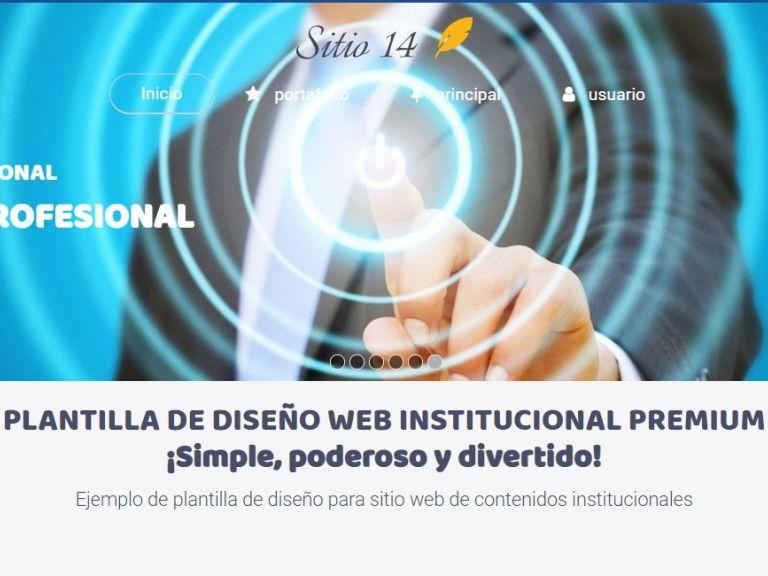 Plantilla de diseño web para sitio institucional. - INSTITUCIONAL 14 . Diseño sitio web institucional
