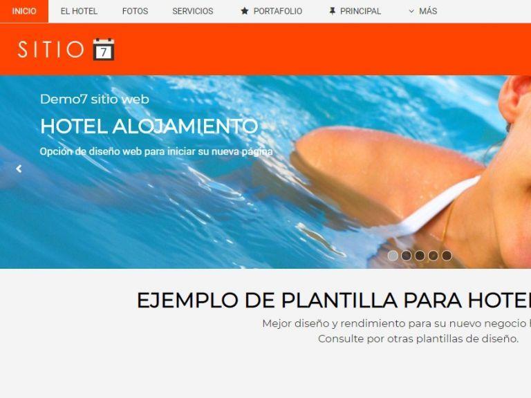 Template de diseño web hotel #7. - HOTEL 7 . Diseño sitio web institucional