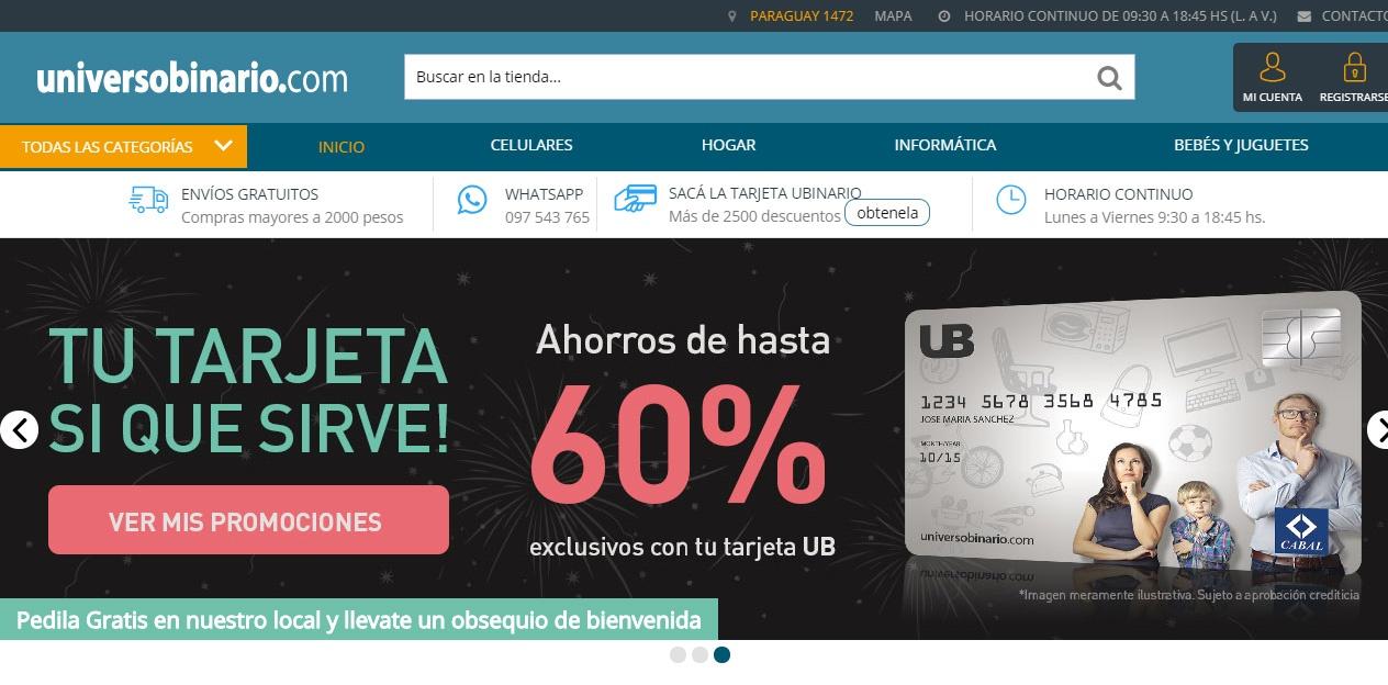 VERSIÓN ACTUAL Tienda online multi departamentos