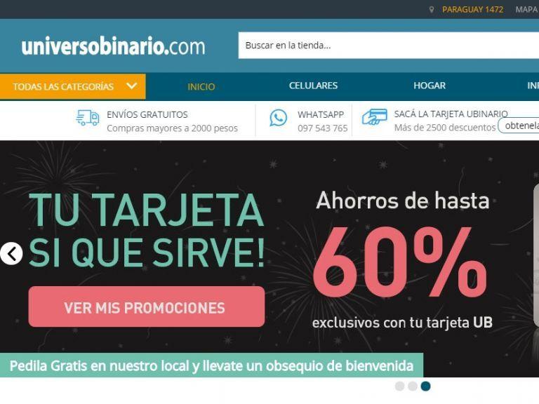 VERSIÓN ACTUAL Tienda online multi departamentos - Universo Binario