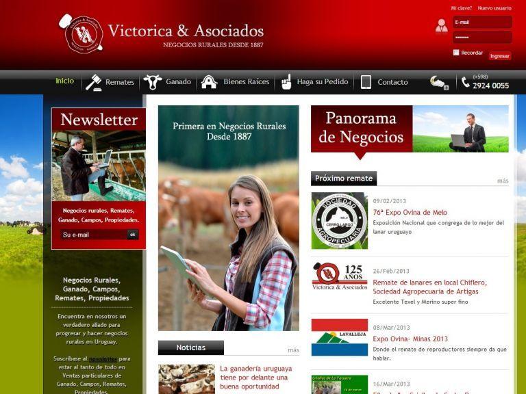 Último trabajo de rediseño y actualización de tecnología realizado para la firma. - Victorica & Asociados