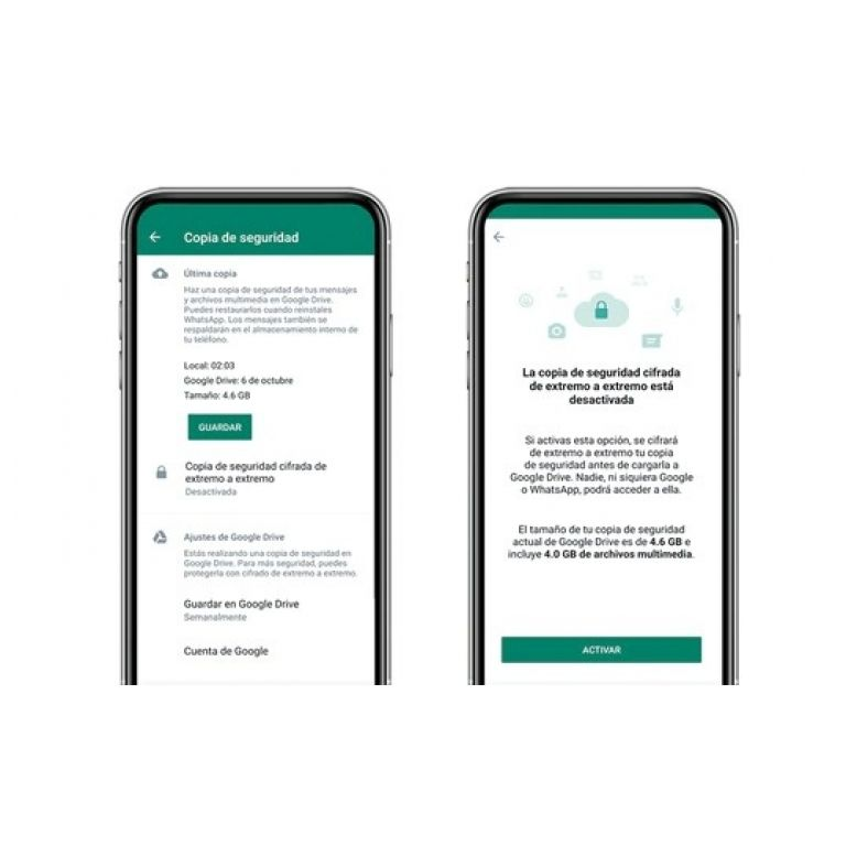 Cambio en el almacenamiento de Google podría afectar su cuenta de WhatsApp