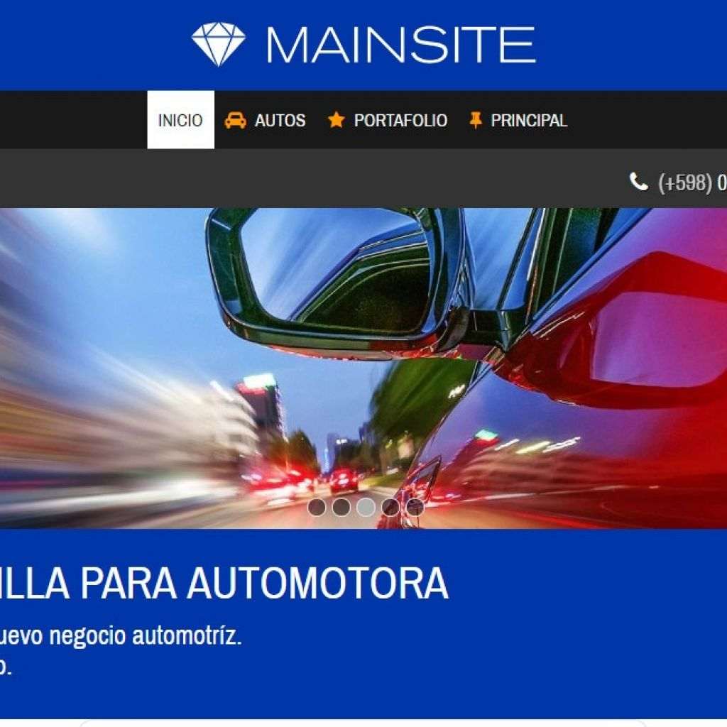 Automotora demo diseño 13. Template de diseño web profesional.