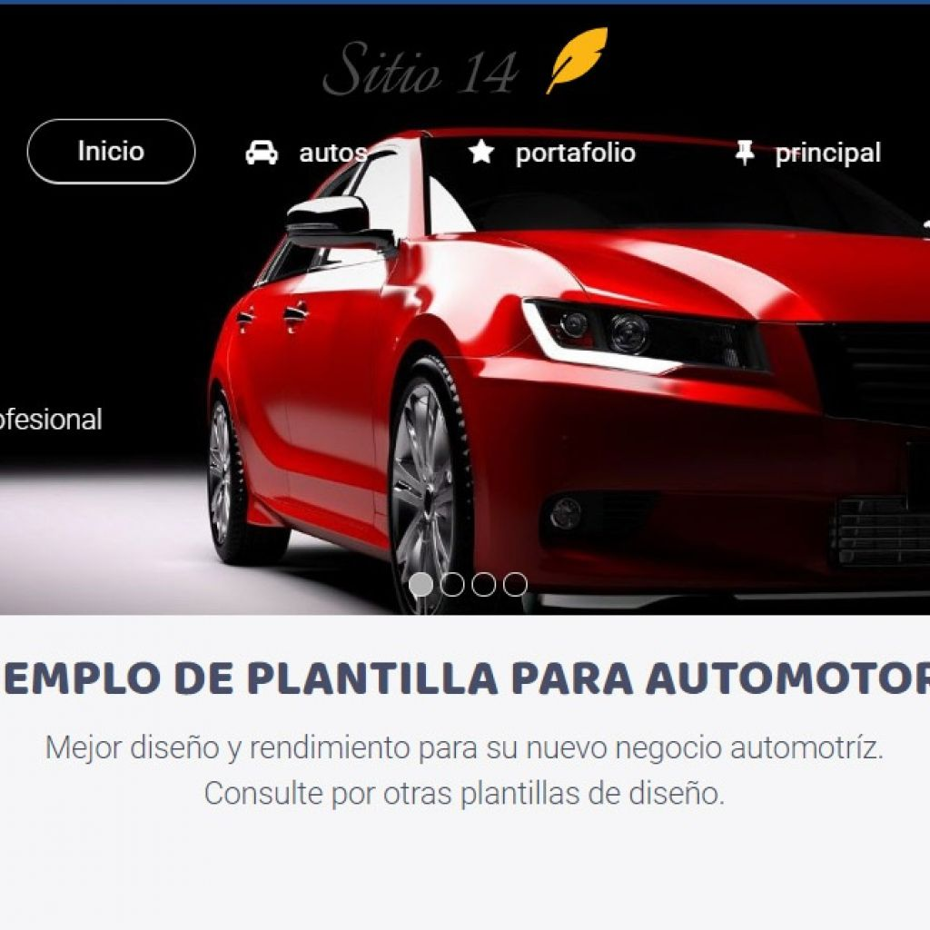 Ejemplo de diseño web automotora 14.
