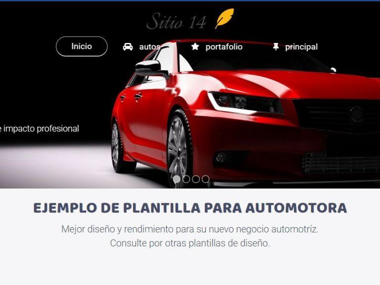 Ejemplo de diseño web automotora 14. - AUTOS 14 . Diseño sitio web automotora rentadora