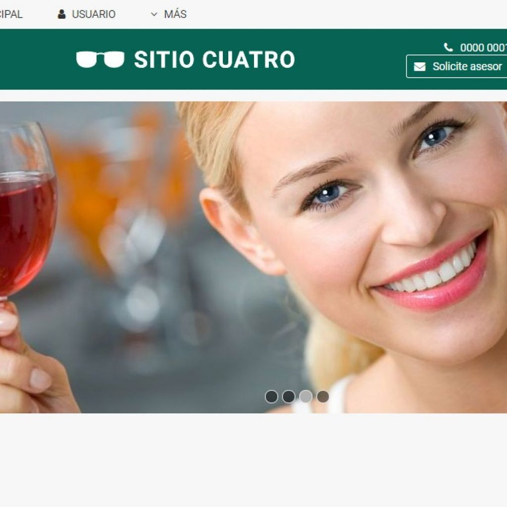 Ejemplo de diseño web para página de hotel. Demo 4.