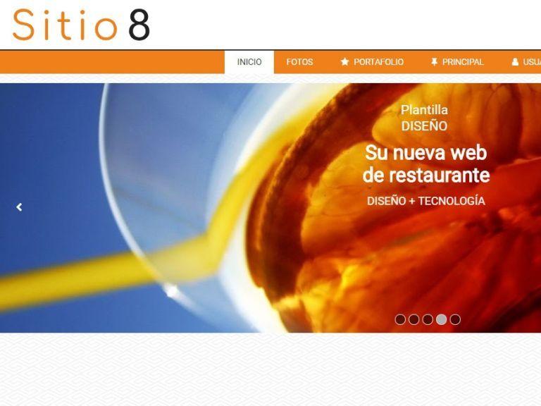 Ejemplo diseño web restaurante 8 - RESTAURANTE 8 . Diseño sitio web institucional