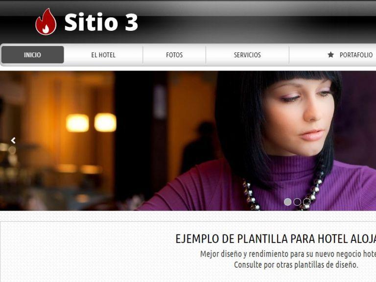 Diseño sitio web institucional para hotel alojamiento. - HOTEL 3 . Diseño sitio web institucional