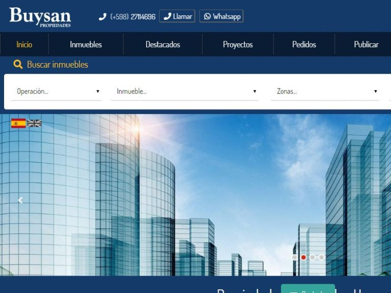 Nueva versión del portal inmobiliario. Soluciones web de software inmobiliario. Portal de búsqueda de Propiedades en Uruguay. - Buysan Propiedades