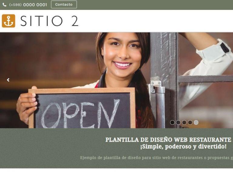 Ejemplo de diseño web plantilla para restaurante. - RESTAURANTE 2 . Diseño sitio web institucional