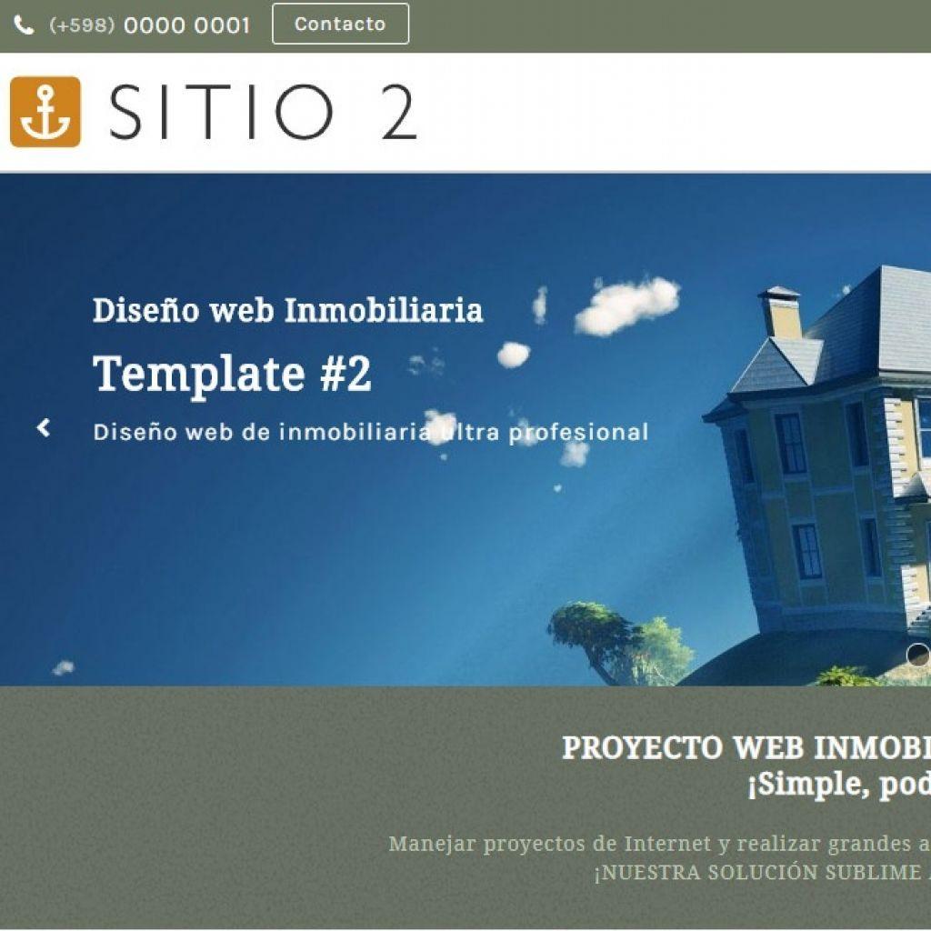 Opción de diseño web inmobiliario.